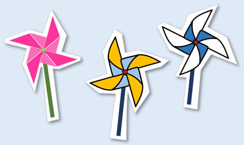 風車(かざぐるま)の描き方