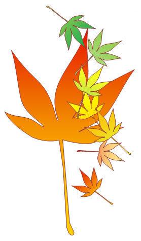 ワードで紅葉の葉をトレース