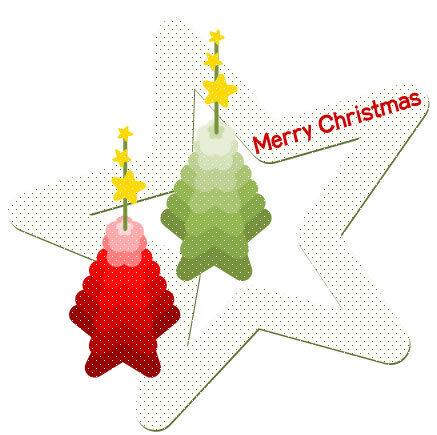 星を使ったクリスマスツリーの描き方