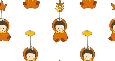 [女の子と葉っぱ(秋)]のテクスチャ作り