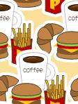 [ハンバーガー]のテクスチャ作り