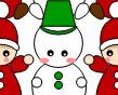 [サンタと雪だるま]のテクスチャ作り