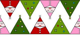 [クリスマス(サンカクロース)]のテクスチャ作り