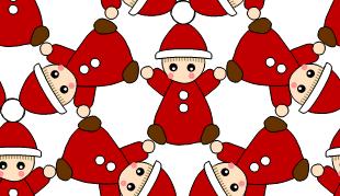 [クリスマス(チビサンタ)]のテクスチャ作り